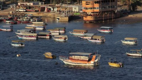 Colorful Boats in the Port of Aqaba, Jordan