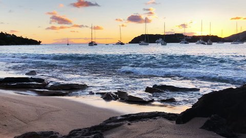 Sunset at Falmouth Harbour, Antigua