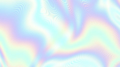 Moving random smooth blurred waves. Smooth thin lines. Abstract screensaver for video. Looping footage. Holographic colors.