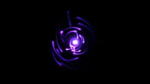 Atomic Science Rotating Particle Electron Animation - Seamless Loop Purple