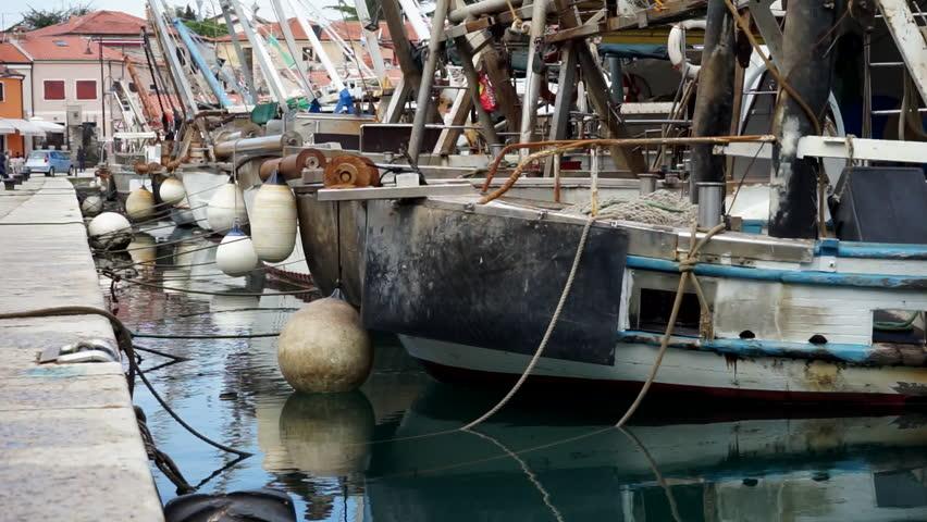 Fishing boats in the harbor at Novi Grad