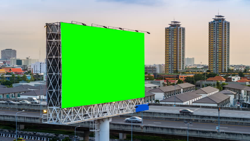 Advertising billboard green screen. #1009598021