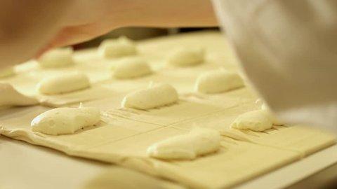 baker makes apple turnover