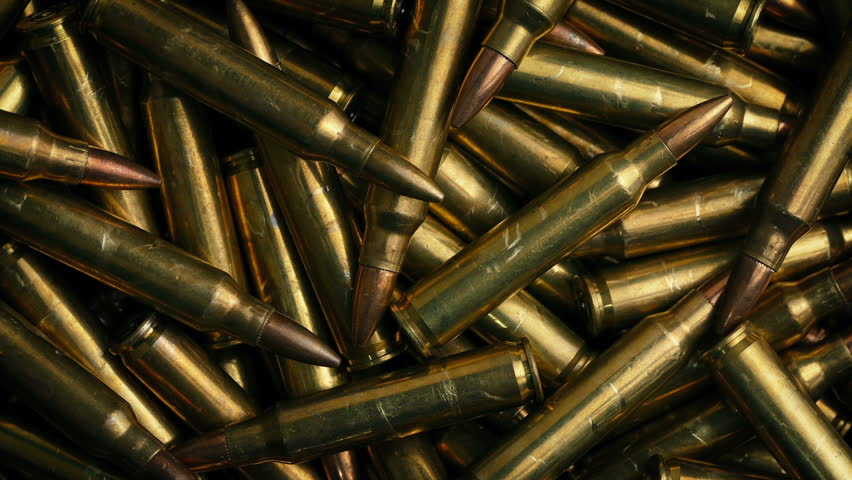 Rotating Bullet Pile Closeup | Shutterstock HD Video #1009699001