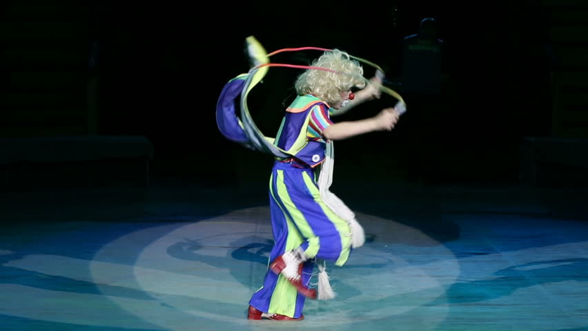 Clown performance in the circus. | Shutterstock HD Video #1009704971