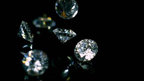 Diamonds Bouncing Slow Motion 2000fps