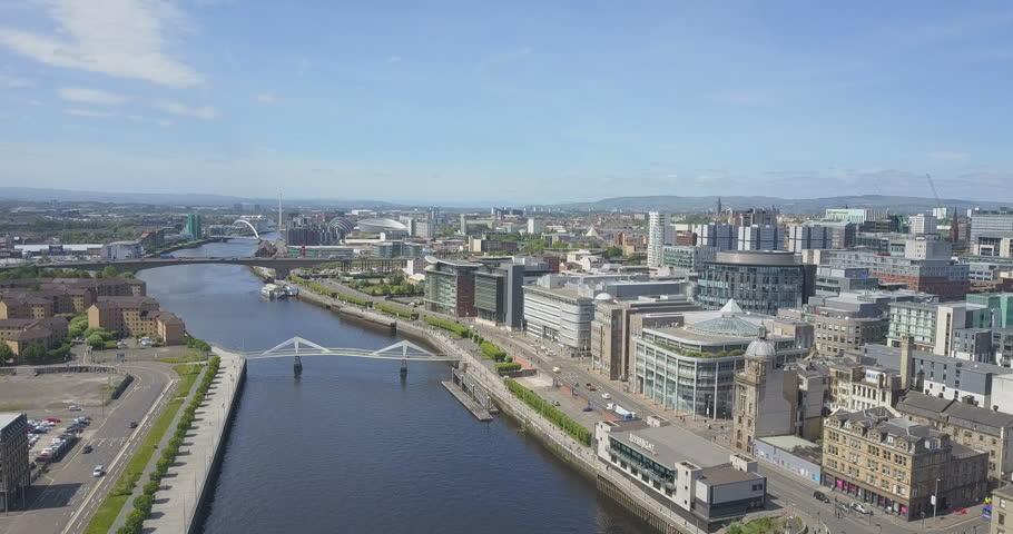 Glasgow City Skyline, Scotland in Summer.