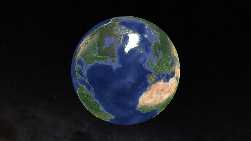 Norway with flag. 3d earth in space - zoom in Norway outer, created using ultra high res NASA