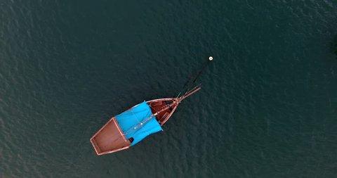 fishermen wooden dhow, Zanzibar