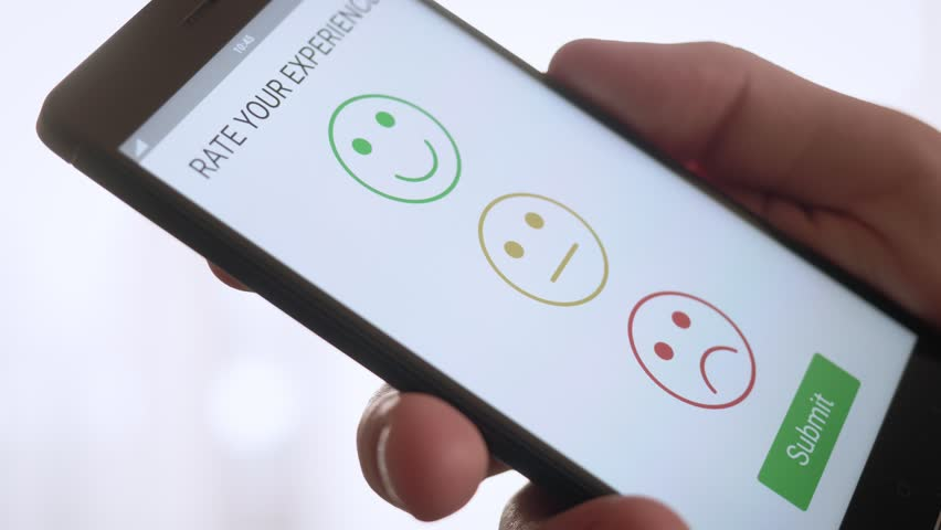 Giving a positive feedback on customer satisfaction app using smartphone