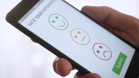 Giving a positive feedback on customer satisfaction app using smartphone