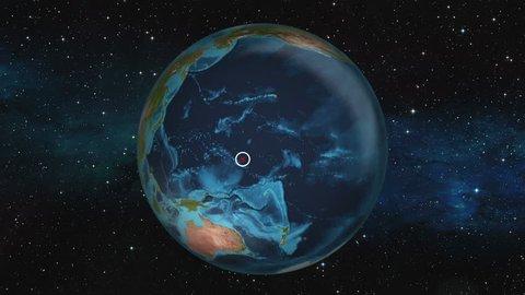 Earth Zoom In Map - Tarawa Atoll