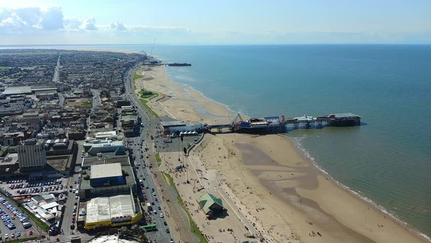 View from the top of Blackpool Tower looking South