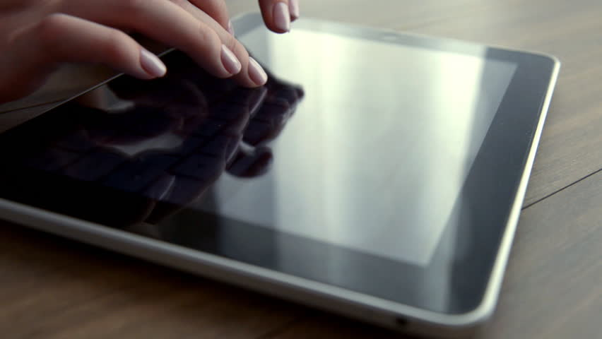 Typing on a virtual keyboard of tablet pc | Shutterstock HD Video #1010180411