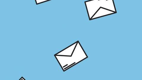 Envelopes falling down HD animation