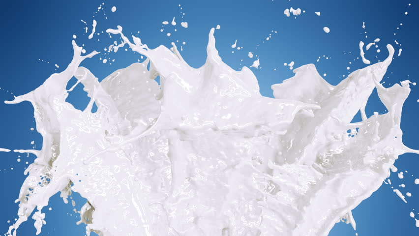 Beautiful Milk and Cream Splashes in Slow Motion and Freeze Motion, Alpha Mask. Flying Through Drops. Useful for Titles and Intro. 3d Animation Food and Health Concept. 4k UHD 3840x2160. | Shutterstock HD Video #1010261411