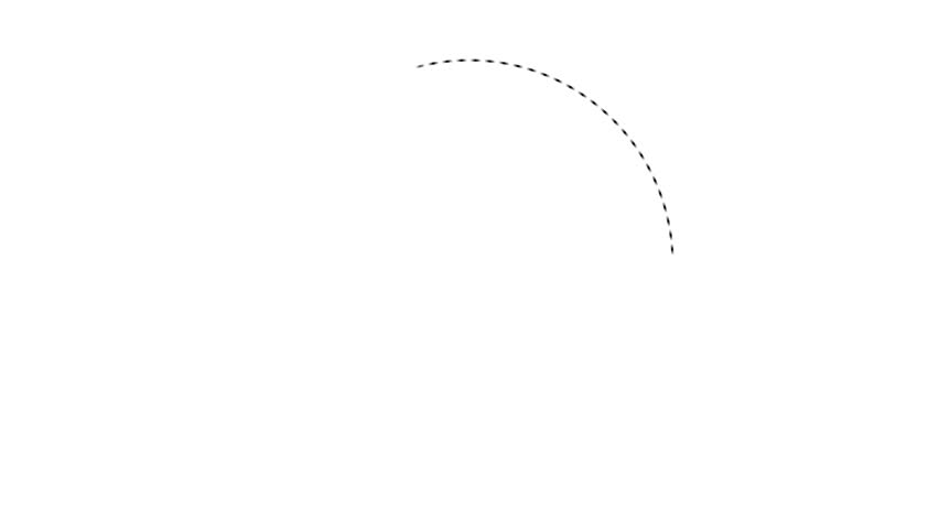 Thin Dashed Circle Animated Element