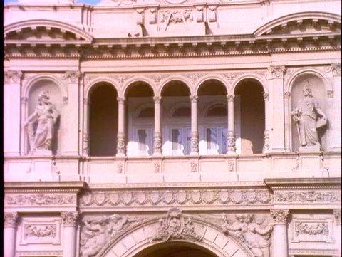 ARGENTINA, 1998, Casa Rosada, famous Eva and Juan Peron balcony, Buenos Aires