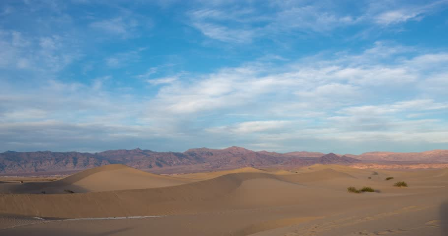 Sunset timelapse at Mesquite dunes in Death Valley, California, USA #1010394011