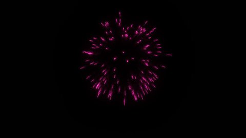 Colorful single firework at night. Spectacular single Gold. Alone Gold firework firecrackers with smoke trace 3d render. V32
