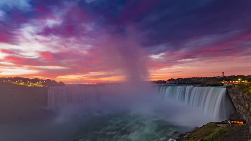 Stunning Niagara Falls Sunrise Time Lapse