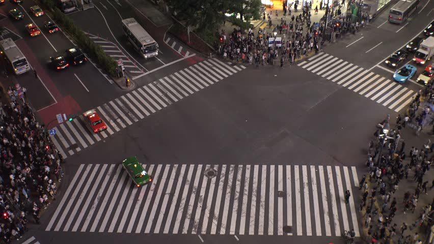 SHIBUYA,  TOKYO,  JAPAN - CIRCA MAY 2018 : Scenery of SHIBUYA around big scramble crossing in summer. | Shutterstock HD Video #1010565461