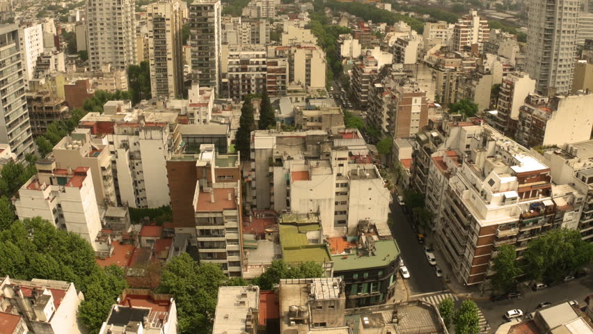 BUENOS AIRES, ARGENTINA – SEPTEMBER 7: View over the city  #1010565971
