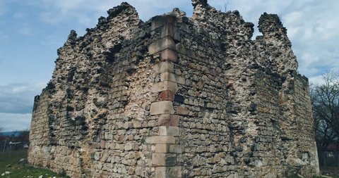 Transcarpathia ruins XIII century According to one version castle erected representatives of the most powerful in Western Europe Catholic