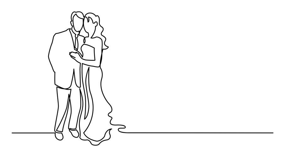 Zeichnung brautpaar