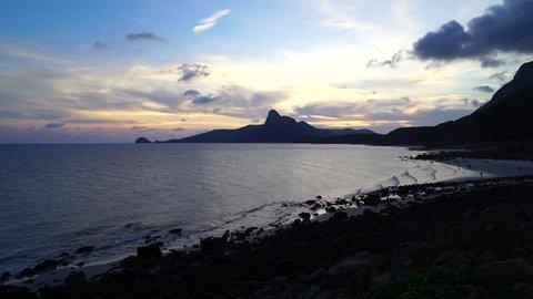 CON DAO/BA RIA VUNG TAU/VIETNAM - 27 APRIL, 2018: Sunrise in Con Dao island, Ba Ria Vung Tau, Vietnam.