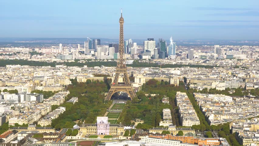 Eiffel Tower and Paris cityscape | Shutterstock HD Video #1010797721