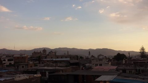 Sunset over Arequipa, Timelapse