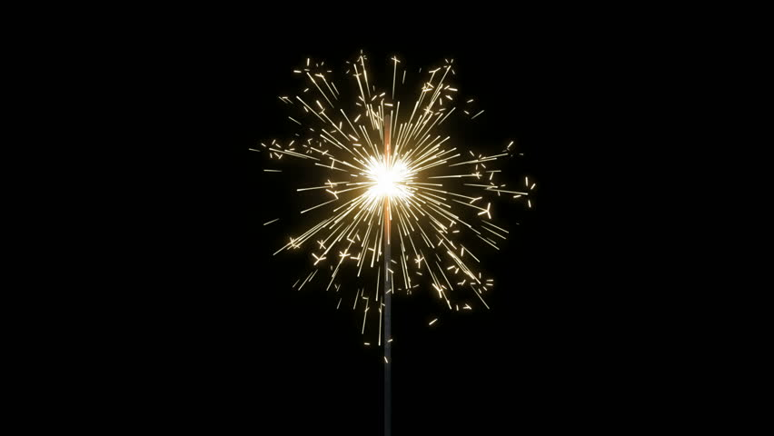Seamless looping animation of fireworks sparkler. Multiple speeds and variations. Alpha mattes included. Great for New Years, Independence Day, birthdays, or any other celebration, holiday, or party.