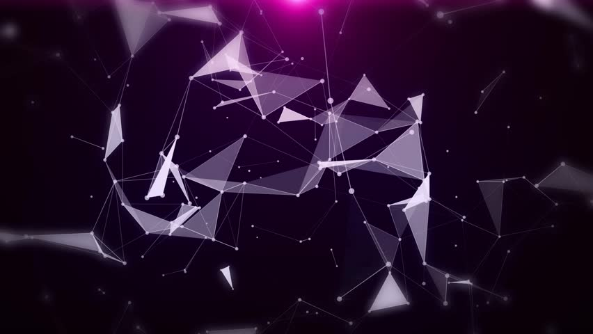 Plexus of abstract purple geometrical lines with moving triangles and dots animations. | Shutterstock HD Video #1010805341