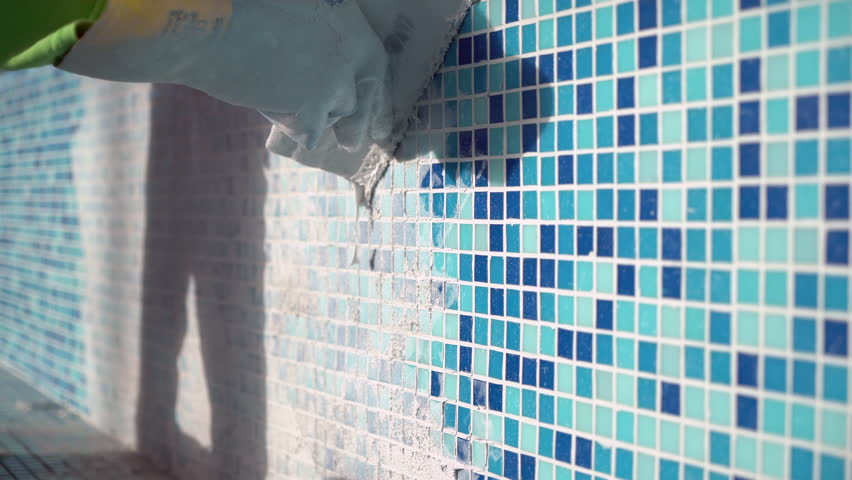 Applying Grout to Bathroom Swimming Stock Footage Video (100% Royalty-free)  1010805791 | Shutterstock