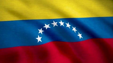 Close up of the national flag of Venezuela. Flag of Venezuela background