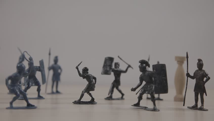 Toy Soldiers, Romans Legionary  Retro Stock Footage Video (100%  Royalty-free) 1010954231 | Shutterstock