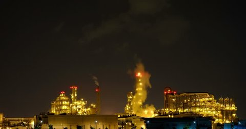 Oil refinery in Map Ta Phut Industrial Estate Rayong, Thailand
