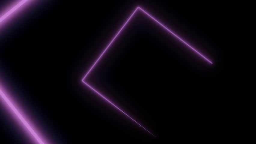 Abstract background with neon squares. Seamless loop. Neon square shape laser #1011172211