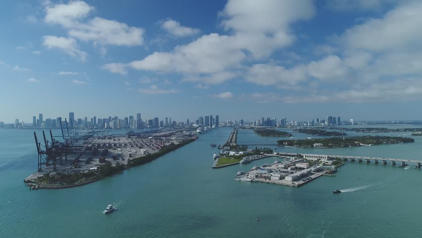 Aerial Drone Footage of Miami Beach in May 2018 #1011184571
