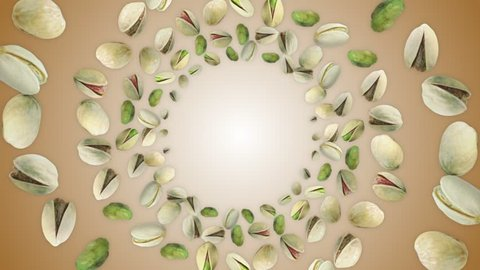 PISTACHIOS Ring Background, Loop, with Alpha Channel, 4k