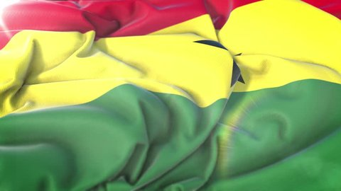 Ghana flag.Flag of  Ghana Beautiful 3d animation of  Ghana flag in loop mode. Ghana flag animation