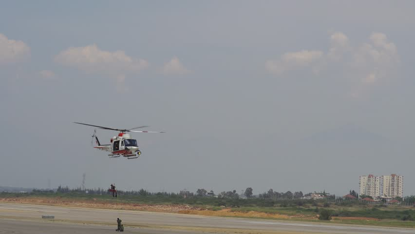 Nato Coast guard helicopter with sound