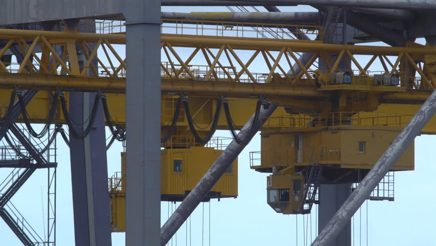 Detail of cranes moving at a container port in Palermo | Shutterstock HD Video #1011406901