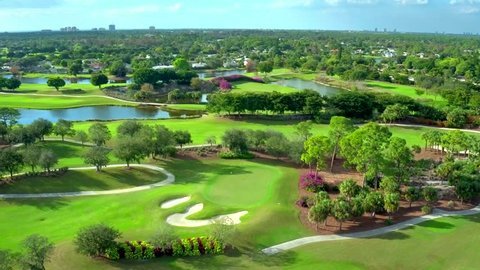 Golf Course Flyover by Aerial Drone