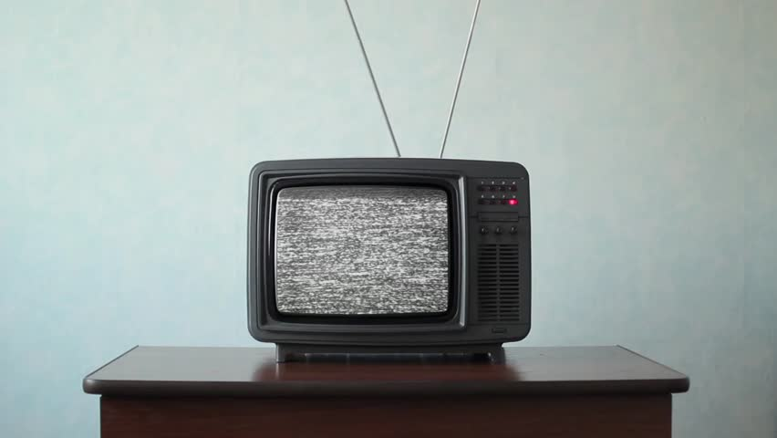 No signal just noise on old analogue TV set | Shutterstock HD Video #1011465281