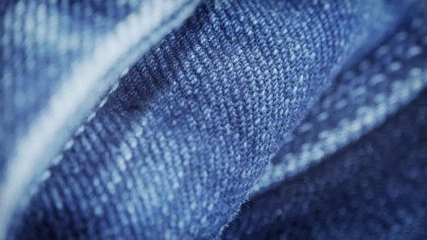 Blue denim jeans close up stock footage