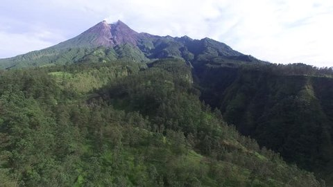 Beautiful Merapi Mountain before Eruption