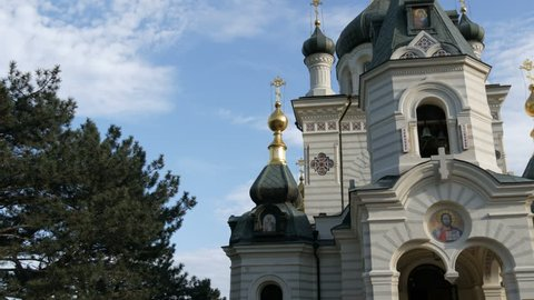 Foros Orthodox Church in Crimea, close up view