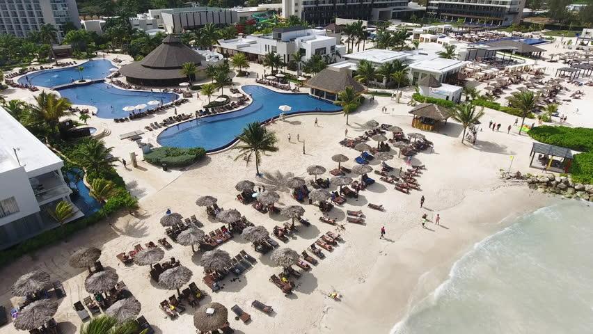 Montego bay,Jamaica /Jamaica - 5/4/18- Jamaica Resort Aerial Drone View